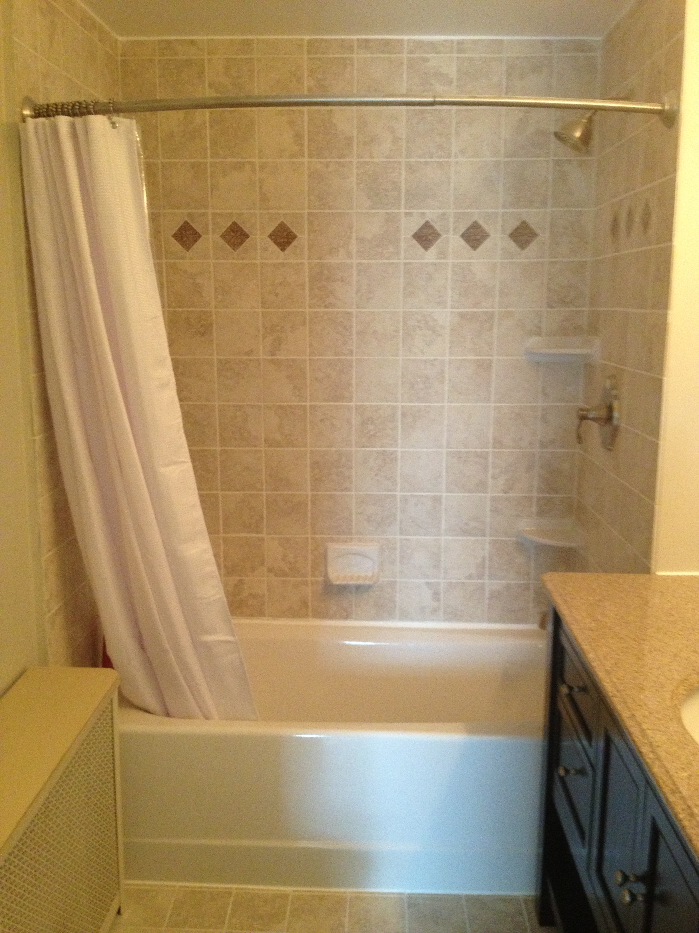 classic bathroom remodel with tile shower  u2013 lux design and